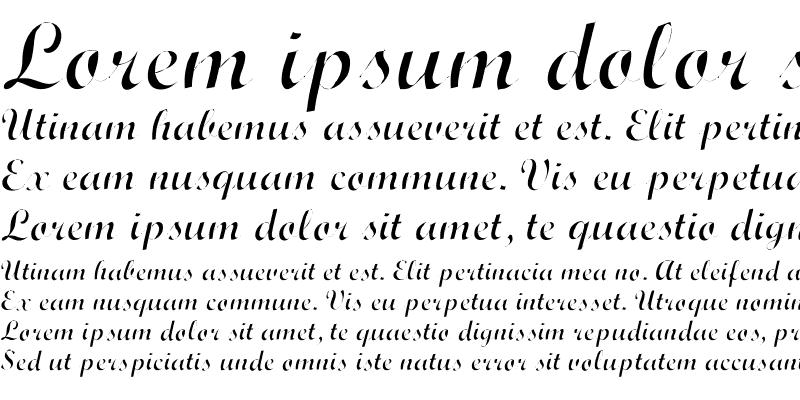 Sample of Wrexham Script Light