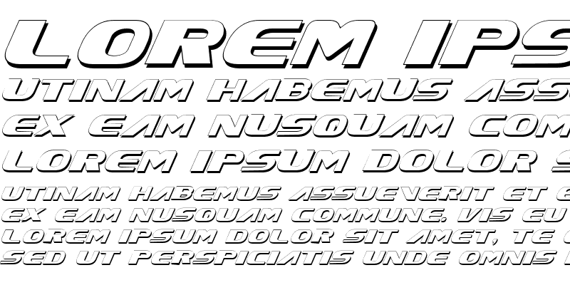 Sample of Xcelsion Shadow Italic Shadow Italic