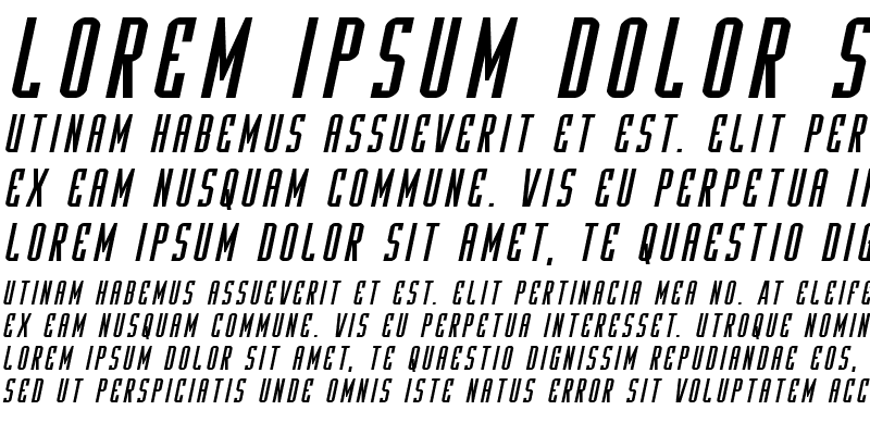 Sample of Y-Files Expanded Italic