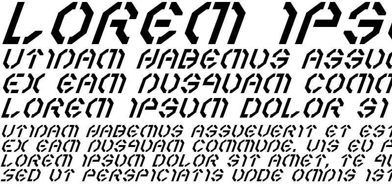 Sample of Year 3000 Italic