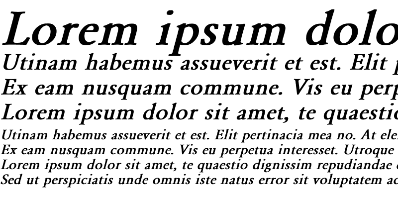 Sample of Yearlind-Normal Bold Italic