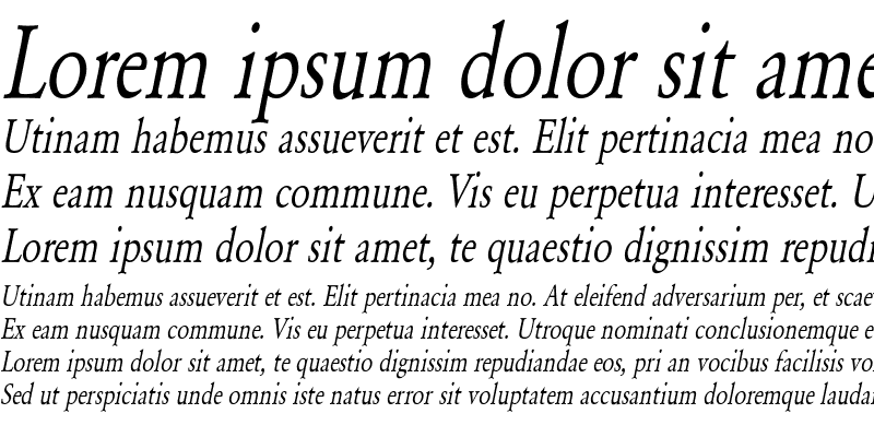 Sample of Yearlind-Normal Condensed Italic