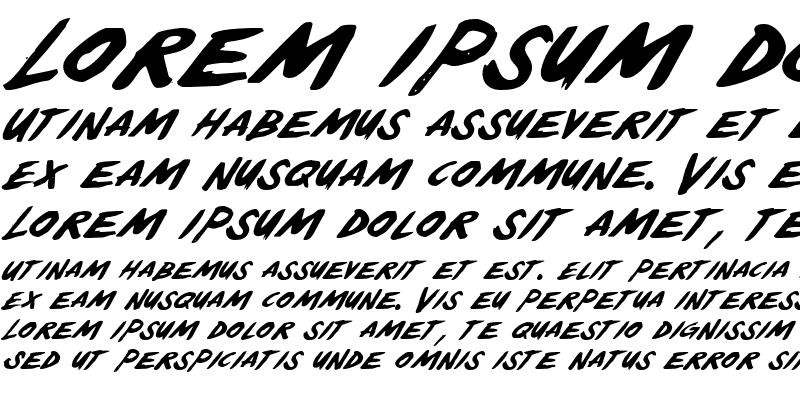 Sample of Yellowjacket Italic