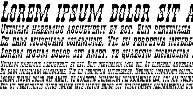 Sample of Younger Brothers Expanded Italic