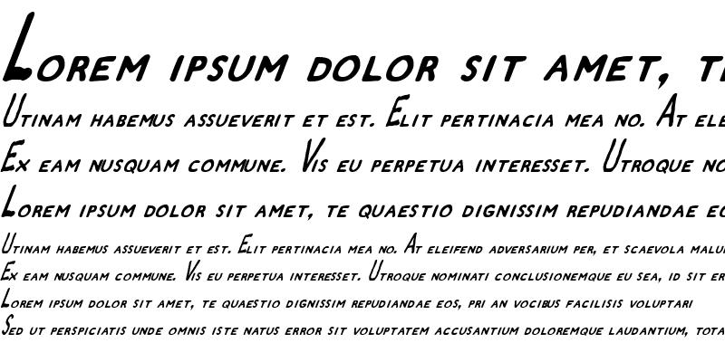 Sample of Zamboni Joe Italic Italic