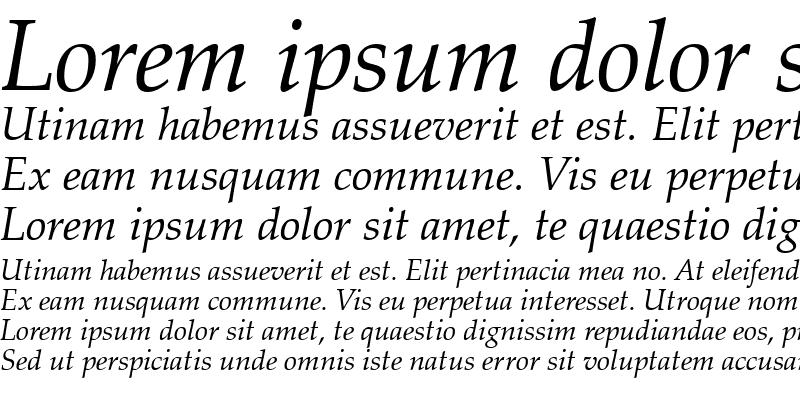 Sample of ZapfCalligr BT Italic
