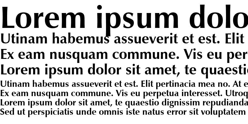 Sample of ZapfHumnst BT Bold