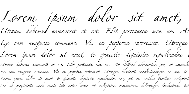 Sample of Zapfino Linotype One