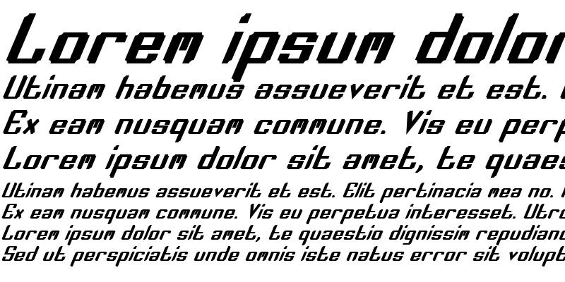 Sample of Zee Lance Bold Italic Bold Italic