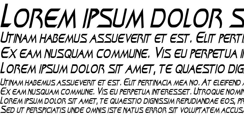 Sample of ZenonCondensed Italic