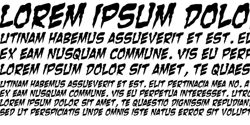 Sample of Zombie Guts Italic