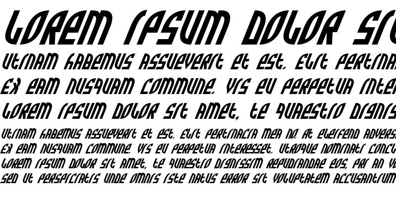 Sample of Zone Rider Italic