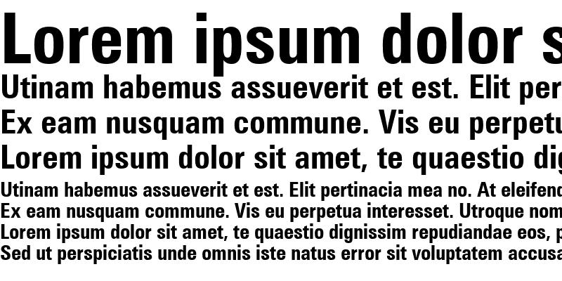 Sample of Zurich Cn BT Bold
